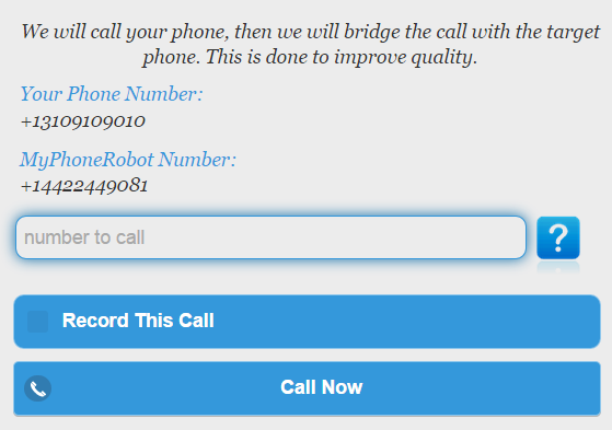 phone number call